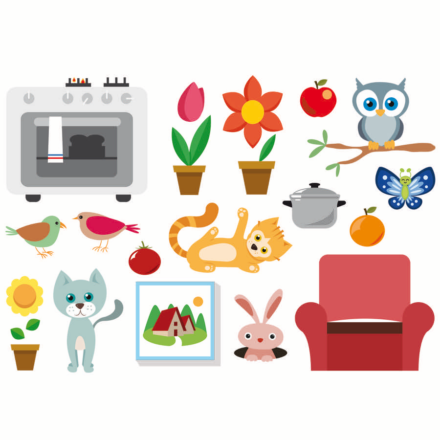planche-autocollants-stickers-fleurs-animaux-wiplii