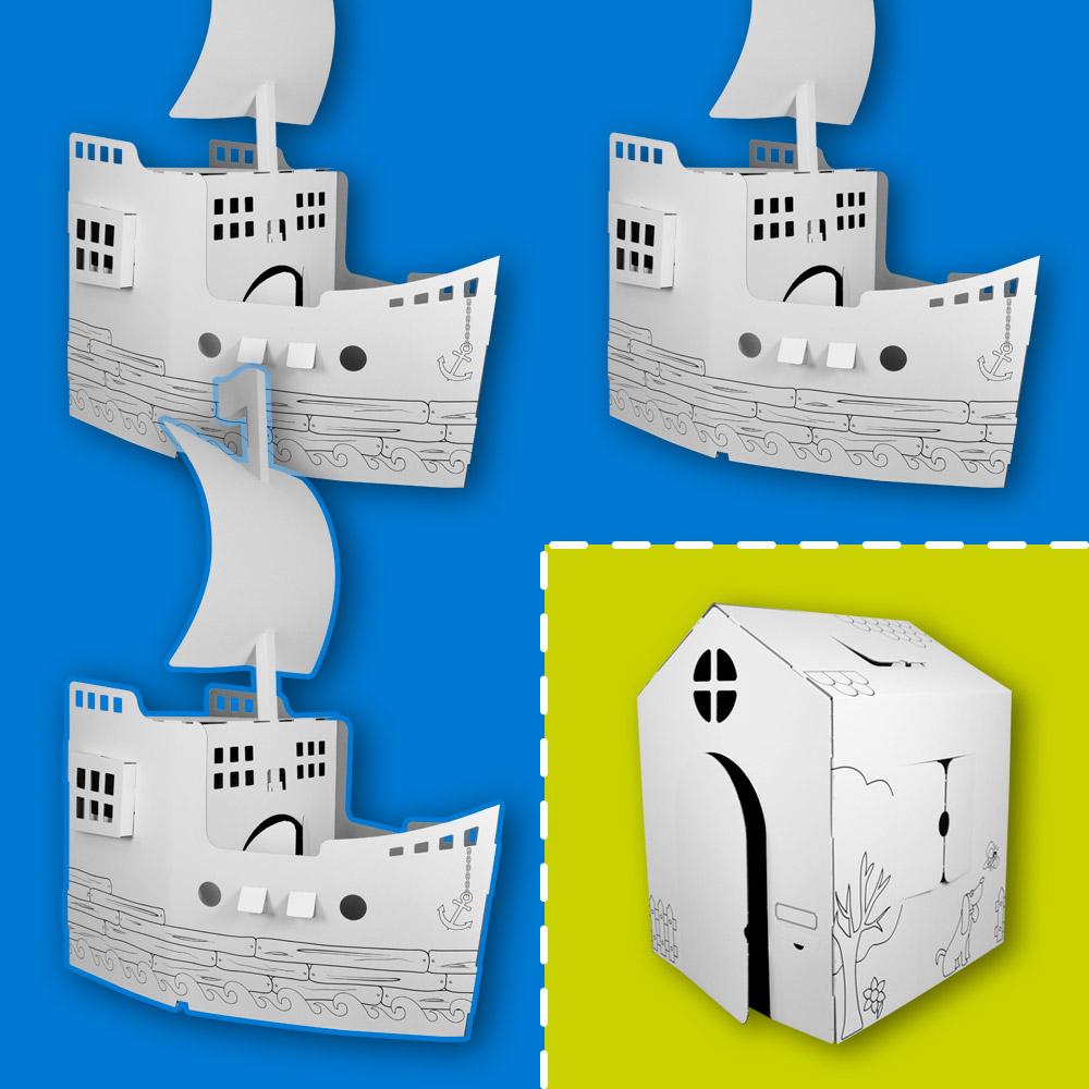 Pack 3 bateaux Wiplii