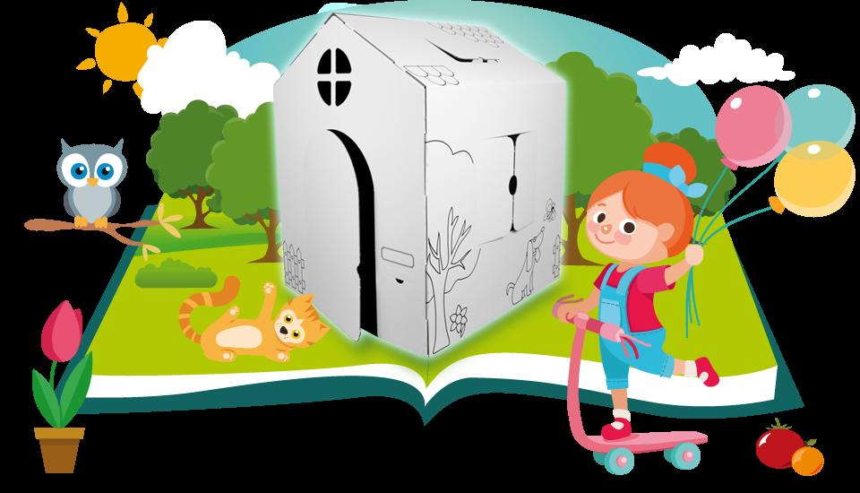 jouet en carton grandeur nature pour petits aventuriers. Black Bedroom Furniture Sets. Home Design Ideas
