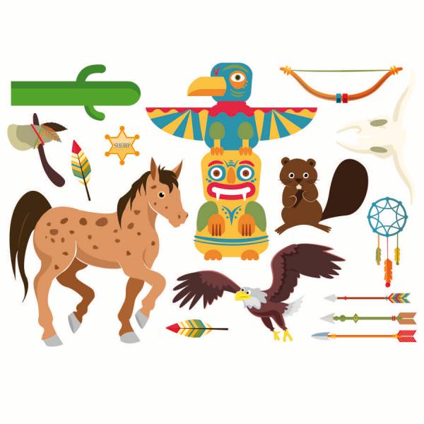 planche-autocollants-stickers-indien-wiplii