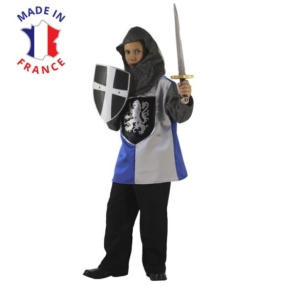Costume chevalier argenté