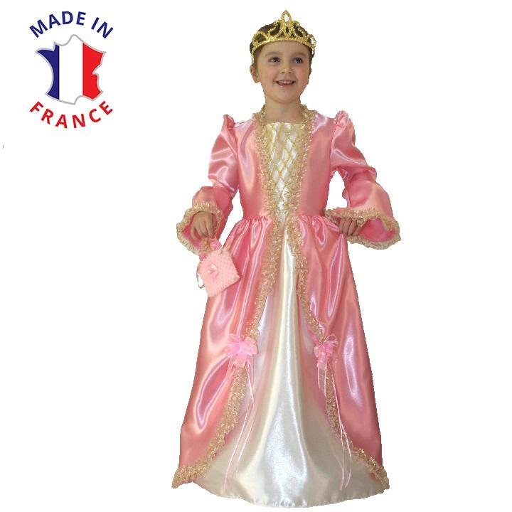 costume marquise rose et or